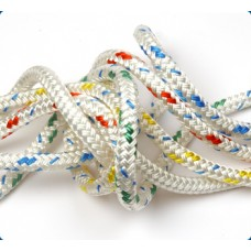 Braid on Braid   White with colour fleck. SALE